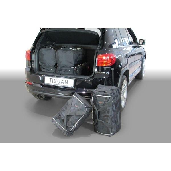 Car Bags V11001S VW Tiguan SUV Bj. 07-15 tiefer Ladeboden - Reisetaschen Set
