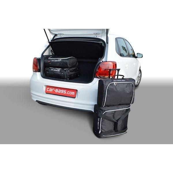 Car Bags V12501S VW Polo V (6R & 6C) Bj. 2009- Ladeboden Position oben - Reisetaschen Set (S)