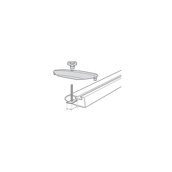 thule 696 t nut adapter f r aluprofil 24x30 mm f r 45 mm u. Black Bedroom Furniture Sets. Home Design Ideas