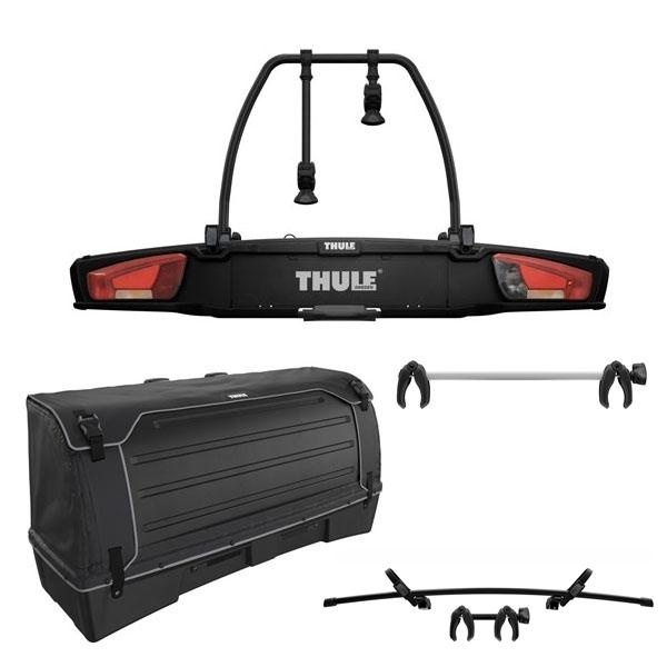 THULE 938 VeloSpace XT 2 Fahrradträger black Set inkl. 9383 Heckbox 938110 Erweiterung