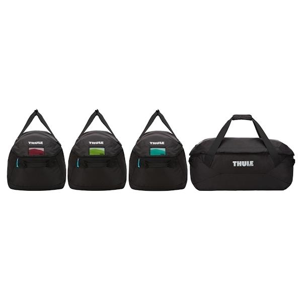 thule 8006 go 4 pack dachboxen taschen set 4 teilig. Black Bedroom Furniture Sets. Home Design Ideas