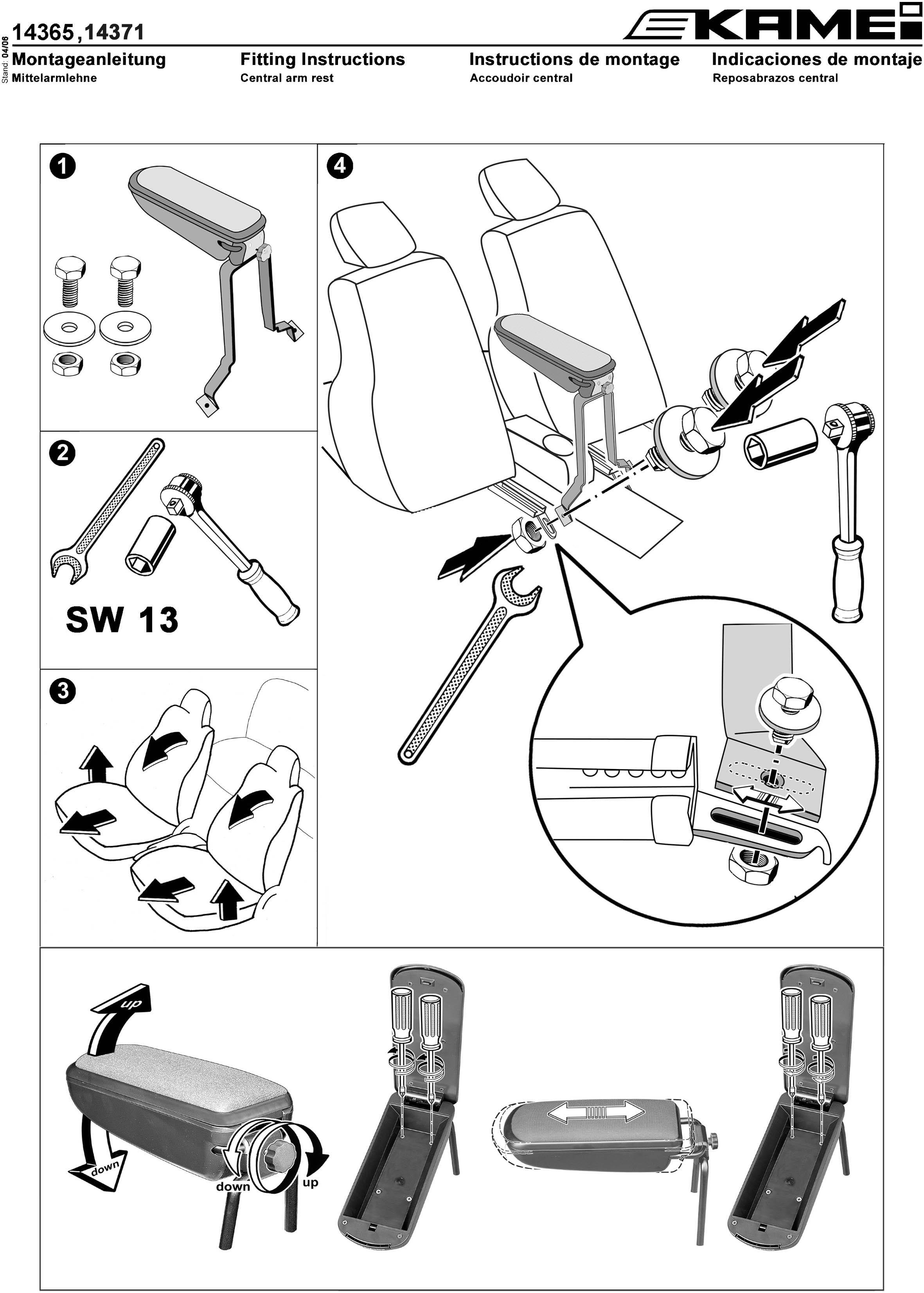 mittelarmlehne fiat grande punto punto evo leder schwarz. Black Bedroom Furniture Sets. Home Design Ideas